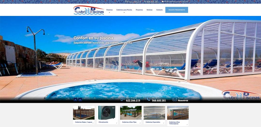 Cubiertas para piscinas x premios web de murcia 2018 for Cubiertas de piscinas pipor