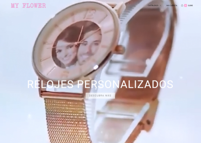 "WEB Relojes Personalizados ""My Flower\"""